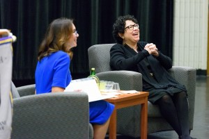U.S. Supreme Court Justice Sonia Sotomayor and Judge A. Gail Prudenti, Dean of the Maurice A. Deane School of Law